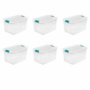 Sterilite 64 Qt. Latching Box White Case of 6