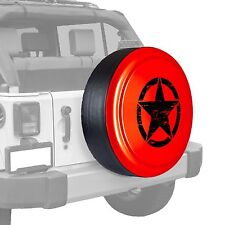 Oscar Mike Star - Painted  Tire Cover fits Jeep Wrangler - Rock Lobster