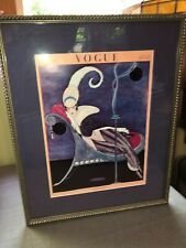 Vogue Magazine 1914 Cover Reprint '75 George Wolfe Plank Art Framed Matted 16x20