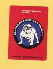 1989 Stimorol Rugby League Trading Card #1 Bulldogs Crest Canterbury Bulldogs