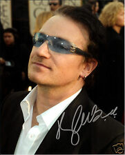 BONO AUTOGRAPH SIGNED PP PHOTO POSTER