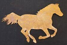 Rusty Horse wall art- made from steel- hand made USA-  mustang bronco garden art