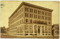 YMCA Building Street View Oakland California CA Sepia Vintage Postcard