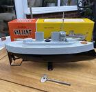 Sutcliffe Model Valiant Clockwork Metal Battleship Immaculate Condition in Box