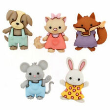 Childrens Buttons - Animals - Forever Friends - Novelty Buttons Cake Decorations