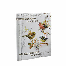 Vintage Birds Family Large Self Adhesive Art Photo Albums - 40 Sides - TB40