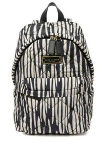 NWT RETAIL $225 Marc Jacobs Quilted Nylon Backpack ZEBRA Animal PRINT