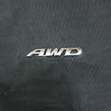 1x Metal Chrome AWD Sticker Emblem Badge Engine Sport Suv Wheel Drive Car Racing