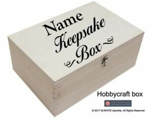 Personalised Sticker for Keepsake Box | Memory Box | Sticker only for 30cmx20cm