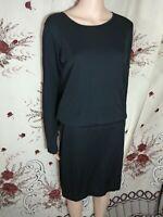 Bitte Kai Rand black long sleeve Dress 156-441 size medium m b4