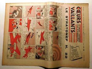COEURS VAILLANTS 1938 n°23 - Hergé. Tintin. le mystère de l'avion gris