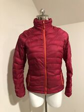 WOMAN PRANA PUFFER DOWN JACKET PACKABLE  PINK WINTER  SMALL S