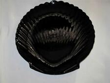 SUPERBE VERRE NOIR Clam en forme de plaque