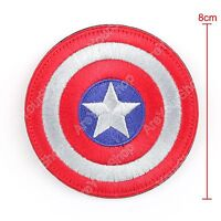 High Quality Avengers Captain America Shield Logo Ecusson Brodé Hook Loop Patch