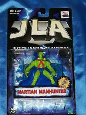 "MARTIAN MANHUNTER: 5"" Poseable Action Figure w Display Stand, JLA, Hasbro 1998"