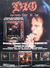 "Dio ""Inferno: Last In Live"" U.S. Promo Poster - Heavy Metal Music, Black Sabbath"