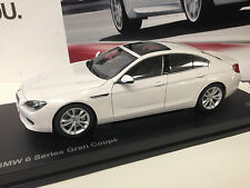 2014 BMW 6 SERIES F06 Grand Coupe  Alpine White  1/18th    Factory BMW Diecast