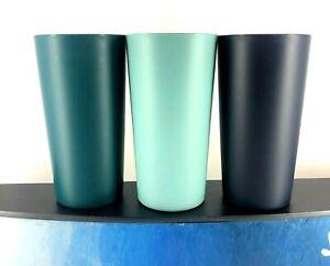 Plastic Cup Break Resistant Tumbler Glasses BPA Dishwasher Safe Matte Set of 4