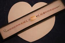 """BELLISSIMO braccialetto con m.o.p e ROSA perle d'acqua dolce 8"""" .5 pollici di lunghezza in Scatola"""