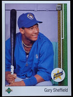 1989 Upper Deck #13 Gary Sheffield RC Rookie Brewers