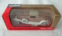 Vintage Diecast Solido Age D'Or Duesenberg Spyder 35 Tan/White Scale 1:43  Boxed