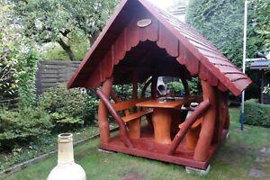 Gartenhaus Laube Pavillion Hütte Rustikal