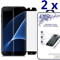 2x 3D Full Cover Case Friendly Glass Screen Protector For Samsung Galaxy S7 Edge