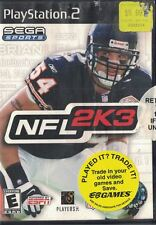 NFL 2K3 Sony PlayStation 2, 2002 Manual & Case ONLY - Disc not Included