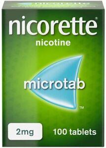 5 X Boxes Nicorette Microtab 2mg Nicotine - 100 Sublingual Tablets