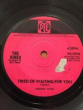 THE KINKS - 1965 Vinyl 45rpm Single - TIRED OF WAITING FOR YOU