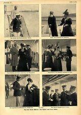 Kieler Woche Der Kaiser und seine Gäste Balin Prof. Esmarch Graf Wilding... 1906