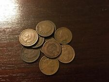 Lot Of 10 Old Indian Head Pennies 1890s-1900s. Full dates. Free shipping!