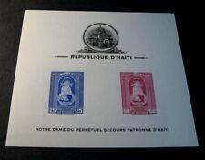 Souvenir Sheet Foreign Haiti Scott# C20a Patroness of Haiti  1942 MNH C504