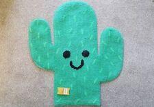Happy Cactus Rug Mat Nursery Rug Childrens Bedroom Rug Green Cactus Mat / Rug