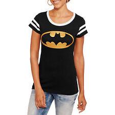 Batman Logo Junior Girls Crewneck Varsity Tee Size 7-9 Medium