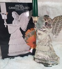 """W.M. Rogers & Son ANGEL CANDLE HOLDER Silverplated 9"""" In Box"""