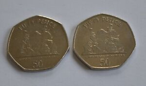 2011 & 2012 Gibraltar Capture of Gibraltar 50p Fifty Pence (Two Coins)