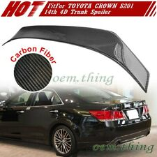 New listing 2018 Fit FOR TOYOTA CROWN S201 14th Sedan R Style Rear Trunk Boot Spoiler Carbon