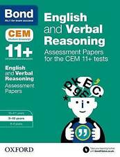 Bond 11+: English and Verbal Reasoning: Assessment Papers for the CEM 11+ tests: 9-10 years by Michellejoy Hughes, Bond (Paperback, 2015)