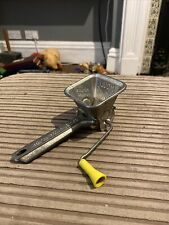 More details for vintage 1940s french herb shredder mouli parsmint yellow handle