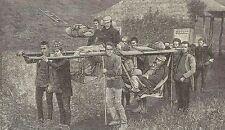A1172 Come si viaggia nelle montagne in Giappone - Incisione Antica del 1905