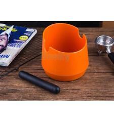Coffee Knock Box Espresso Grinds Tamper Waste Bin with Handle Orange