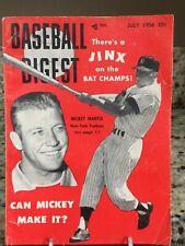 July 1956 Baseball Digest Mickey Mantle New York Yankees MLB