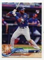 2018 Topps Series 1 AMED ROSARIO Real Logo Rookie Card RC #63 New York Mets