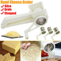 Rotary Hand Cheese Grater Slicer Stainless Steel Blades Handheld Kitchen Tool