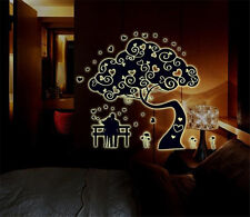 Lover tree Grow at night home Decor Removable Wall Sticker Decal Decorations
