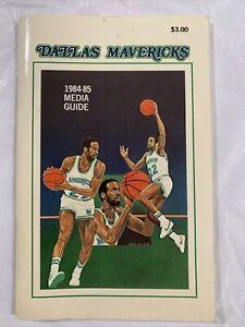 Dallas Mavericks 1984-85 Media Guide