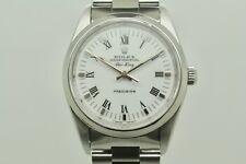 Rolex Air King Precisión 14000, blanco y números romanos