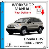 HONDA CRV 2006 2007 2008 2009 2010 2011 SERVICE REPAIR MANUAL WORKSHOP