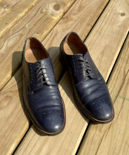 New listing COLE HAAN 'Williams' Sz 10.5 Blue Pebbled Leather Lace-Up Oxford Shoes